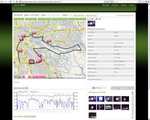 Enhanced Nokia Sports Tracker page