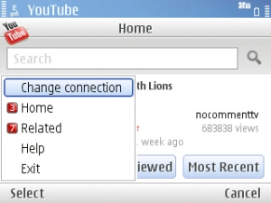 Google's YouTube on E71