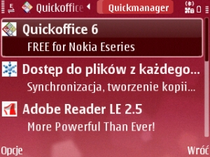 Free QuickOffice update